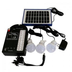 Ηλιακό Σύστημα Φωτισμού & Φόρτισης με Panel, Μπαταρία & 3 Λάμπες LED - Solar Power Lighting System - GDPLUS 999