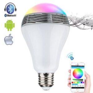 Έξυπνη λάμπα LED Bluetooth, Speaker, Color changing