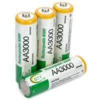 Επαναφορτιζόμενες μπαταρίες 3000mAh- AA - ΣΕΤ 4 TEMAXIΩΝ - BTY