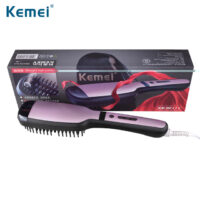 Kemei KM-HC111- Ηλεκτρική ισιωτική βούρτσα με ατμό