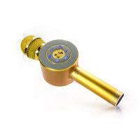 Ασύρματο bluetooth μικρόφωνο karaoke ηχείο MP3 player - WSTER WS-668 GOLD