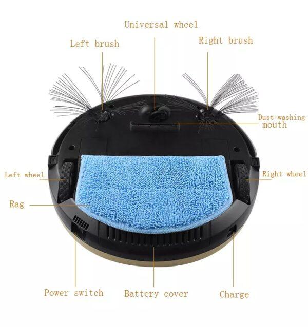 Έξυπνη επαναφορτιζόμενη σκούπα - σφουγγαρίστρα ρομπότ – Aidbot R527