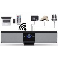 TG018 - Ασύρματο φορητό ηχείο μπάρα με Bluetooth/Fm radio Χρώμα μαύρο