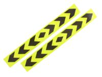 Αυτοκόλλητοι ανακλαστήρες κίτρινο μαύρο με βέλη - OEM