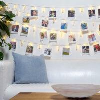 Σετ φωτεινά διακοσμητικά μανταλάκια με λευκό θερμό φωτισμό LED 40 τμχ