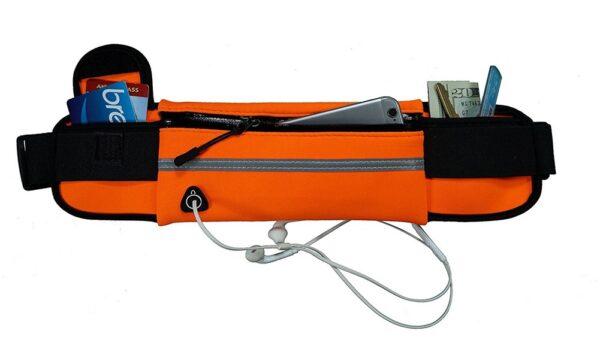 Αθλητική τσάντα μέσης με δύο μεγάλες τσέπες
