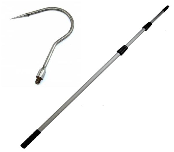 Πτυσσόμενος γάντζος ψαρέματος με αντιολισθητική λαβή