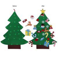 Παιδικό χριστουγεννιάτικο δέντρο με διάφορα στολίδια