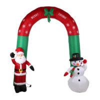 Χριστουγεννιάτικη φουσκωτή αψίδα με φωτισμό LED (2,70 x 2,50m.)