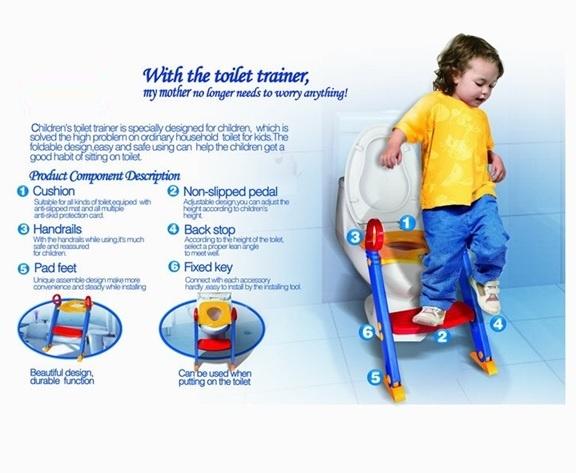 Παιδικό κάθισμα τουαλέτας με σκαλοπάτι και ρυθμιζόμενο ύψος - Children's Toilet Trainer