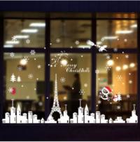 Χριστουγεννιάτικο αυτοκόλλητο τζαμιών και βιτρίνας Παρίσι