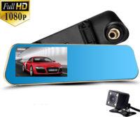 """Καθρέπτης καταγραφικό αυτοκινήτου με κάμερα οπισθοπορείας και οθόνη 4,3"""" - Vehicle blackbox DVR"""