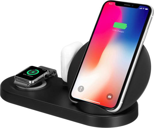 Ασύρματη βάση φόρτισης 5 σε 1 - W7 Charging station for Apple iPhone, iPad, iWatch, Earpods & USB
