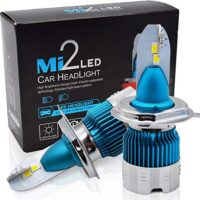 Led Mini H4 Mi2 headlight 12/24V 50w 6000LM 6500K - Διπλή Σκάλα