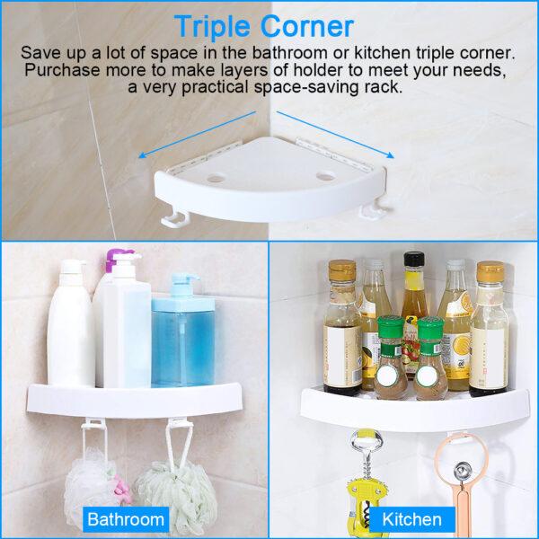 Έξυπνο αντιολισθητικό γωνιακό ράφι μπάνιου – Snap Up Bathroom