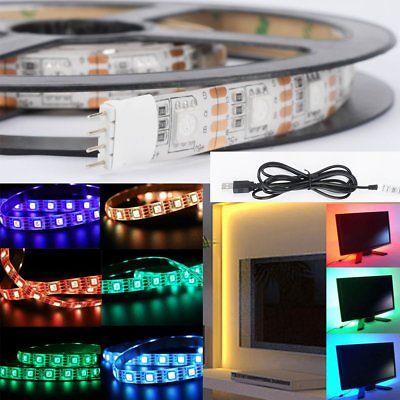 Led ταινία 5m rgb με USB και τηλεχειριστήριο