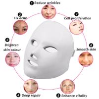 Φωτοδυναμική led μάσκα προσώπου αναζωογόνησης και κατά της ακμής- colorful led beauty mask
