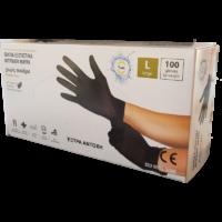 Γάντια νιτριλίου μαύρα
