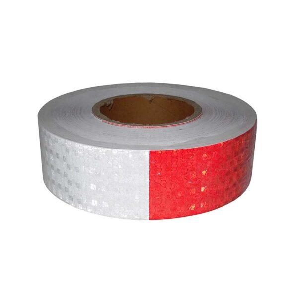 Αυτοκόλλητη ταινία ανακλαστική λευκή κόκκινη 5cm x 50m - OEM