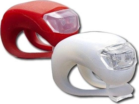 Φωτάκι σιλικόνης ποδηλάτου σετ 2 τεμαχίων LED, HJ008-2