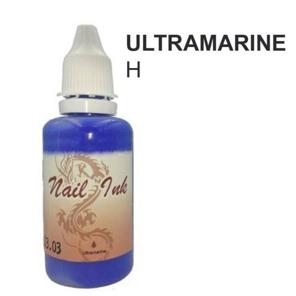 Ακρυλικό χρώμα αερογράφου Μπλε Μωβ- Airbrush Ultramarine Nail Ink 30ml OEM