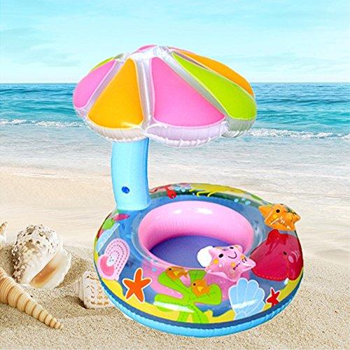 Παιδικό φουσκωτό βαρκάκι θαλάσσης με ομπρελίτσα - OEM