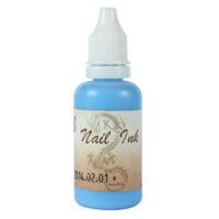 Ακρυλικό χρώμα αερογράφου Γαλάζιο - Airbrush Aqua Blue Nail Ink 30ml OEM