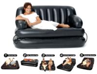 Διπλός πολυμορφικός φουσκωτός καναπές-κρεβάτι 5 σε 1 -188x152x64εκ.-Bestway 92101