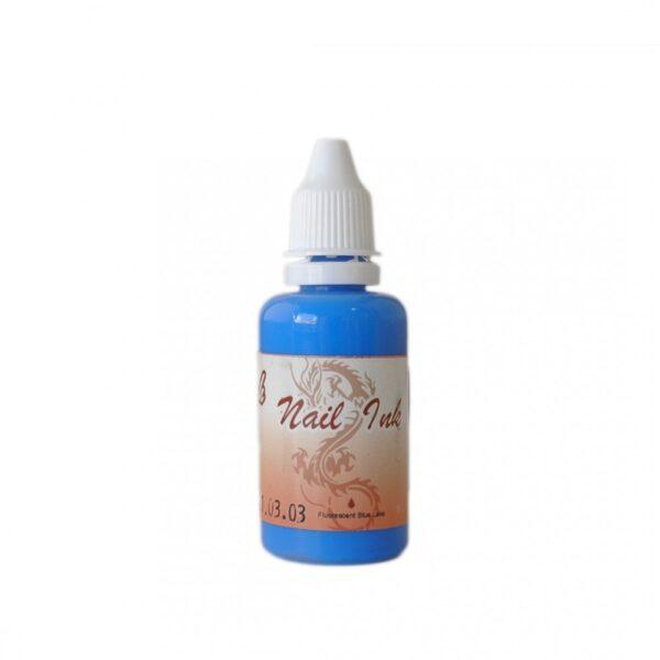 Ακρυλικό χρώμα αερογράφου Μπλε - Airbrush Blue Lake Nail Ink 30ml OEM