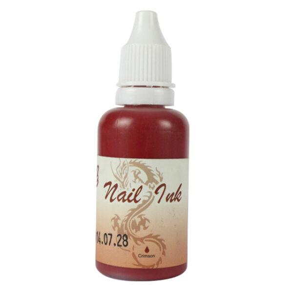 Ακρυλικό χρώμα αερογράφου Βυσσινί - Airbrush Crimson Nail Ink 30ml OEM