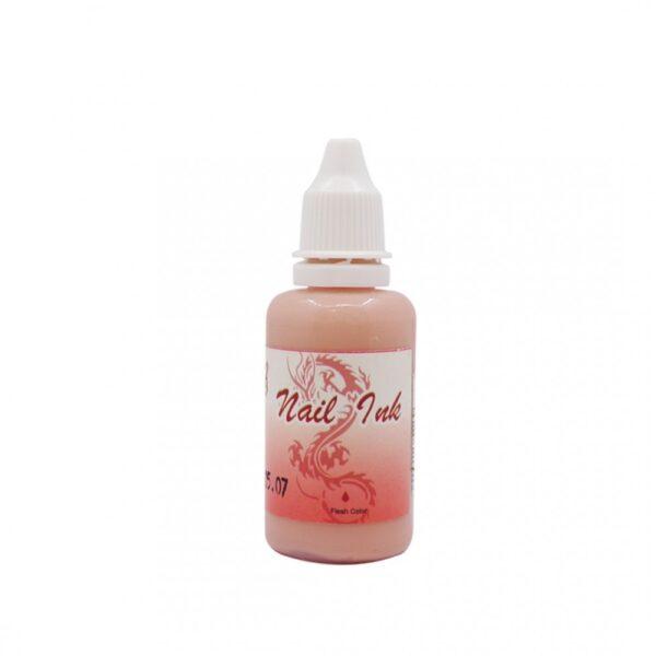 Ακρυλικό χρώμα αερογράφου Ροζ Απαλό - Airbrush Fresh Colour Nail Ink 30ml OEM