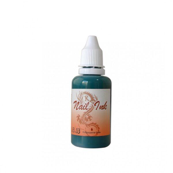 Ακρυλικό χρώμα αερογράφου Πράσινο- Airbrush Nail Ink 30ml OEM