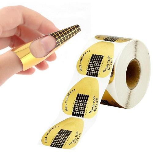 Αυτοκόλλητες φόρμες νυχιών μιας χρήσης για επιμήκυνση - 500τμχ OEM
