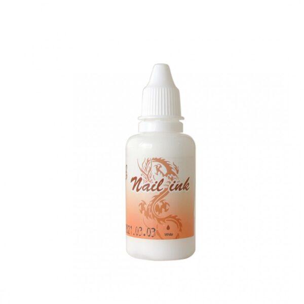 Ακρυλικό χρώμα αερογράφου Λευκό - Airbrush Nail Ink 30ml