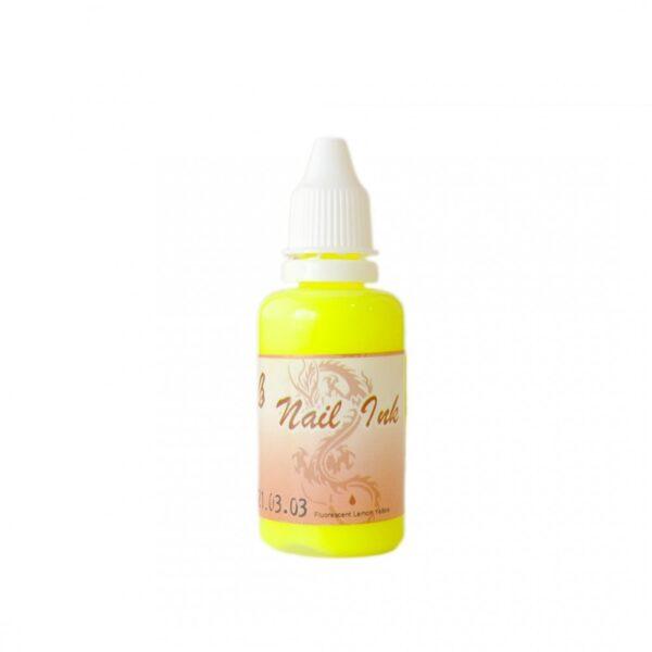 Ακρυλικό χρώμα αερογράφου Κίτρινο- Airbrush Nail Ink 30ml OEM