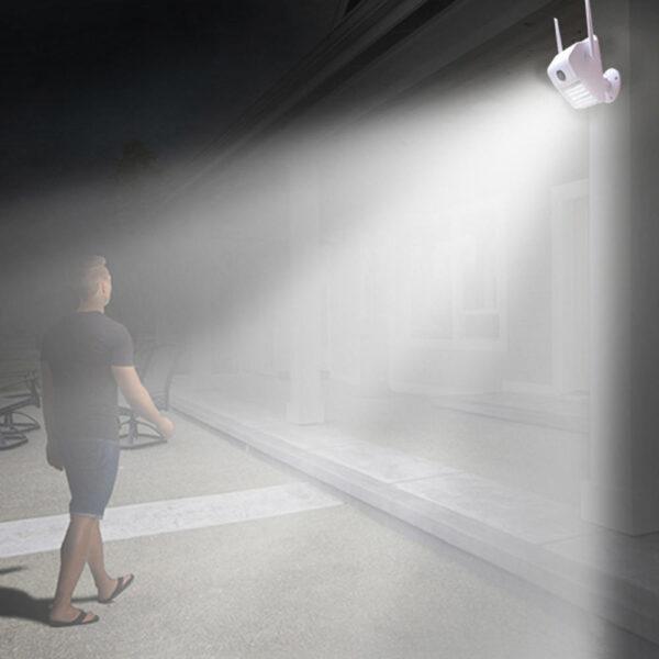 Εξωτερική λάμπα τοίχου 180° πανοραμική αδιάβροχη IP Camera -Night Vision D6