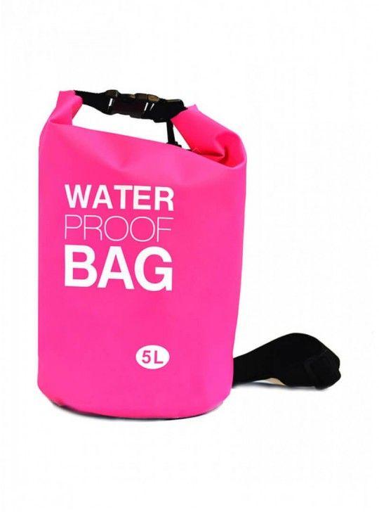 Αδιάβροχος σάκος παραλίας 5L Ροζ- Waterproof Dry Bag ΟEM