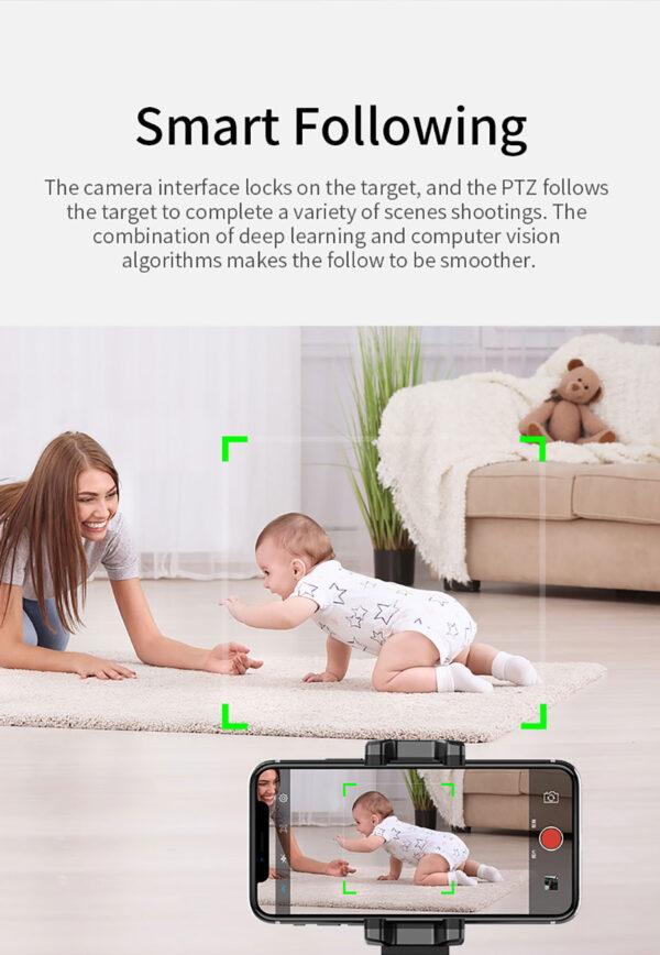 Βάση κινητού με 360ᵒ παρακολούθηση προσώπου & αντικειμένων Selfie Stick - Object & Face Tracking Holder