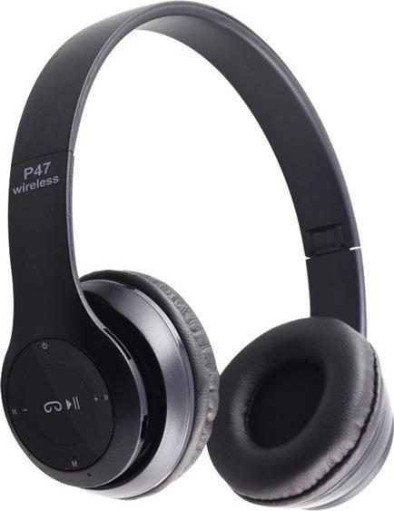 Ασύρματα ακουστικά κεφαλής - Bluetooth Headphones 4.2 + EDR - P47 ΜΑΥΡΟ