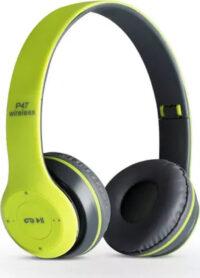 Ασύρματα ακουστικά κεφαλής - Bluetooth Headphones 4.2 + EDR - P47 ΠΡΑΣΙΝΟ