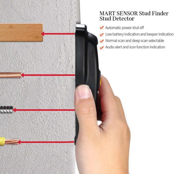Ψηφιακός ανιχνευτής καλωδίων μετάλλου/ AC (Stud / metal / AC) - Smart Sensor AR-906