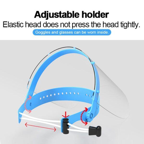 Ασπίδα προσώπου μπλε με λάστιχο για εύκολη προσαρμογή 1τμχ - Face shield