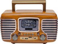 Ρετρό επαναφορτιζόμενο φορητό ραδιόφωνο Bluetooth USB/SD και MP3 Player - MD-101BT
