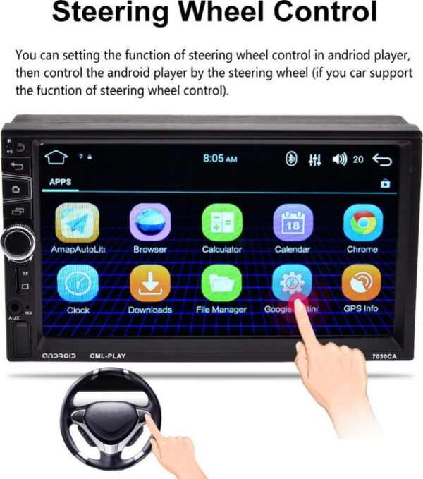 Multimedia 2Din 7030CA 7″ Android 7.1, GPS, WiFi