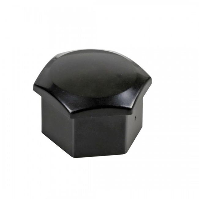 Καπάκια για μπουλόνια μαύρα 17mm σετ 10τμχ