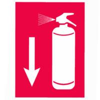 Αυτοκόλλητο σήμα πυροσβεστήρας 10cm x 14cm