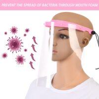 Ασπίδα προσώπου ροζ με λάστιχο για εύκολη προσαρμογή 1τμχ -Face shield