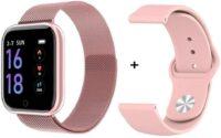 Smartwatch - Fitness tracker T80 Ροζ