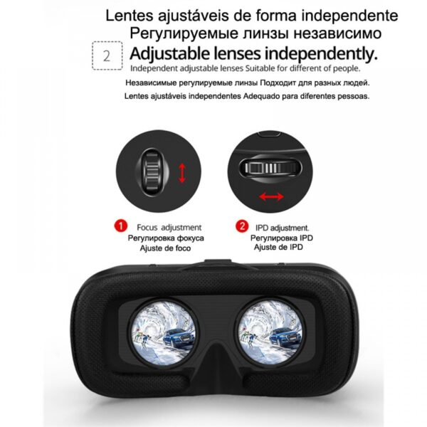 VR Shinecon Glasses εικονικής πραγματικότητας - Wearing Game Smart 3D Digital Glasses