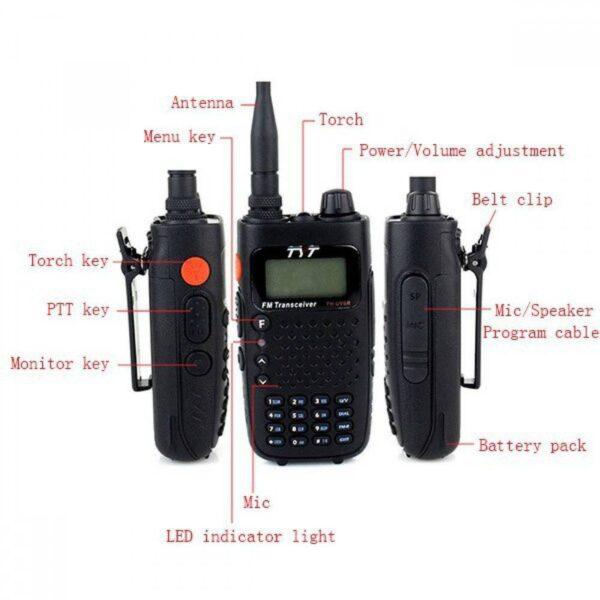 TYT TH-UV6R Φορητός πομποδέκτης διπλής κατεύθυνσης VHF/UHF